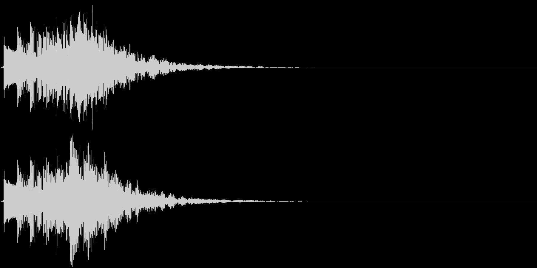 可愛らしい電子音のサウンドロゴの未再生の波形