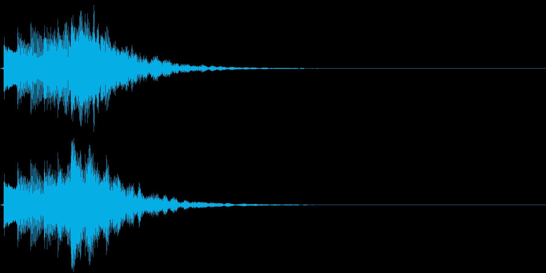 可愛らしい電子音のサウンドロゴの再生済みの波形