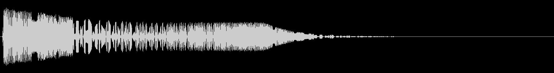 バシャッ02(水・液体系のアクション音)の未再生の波形