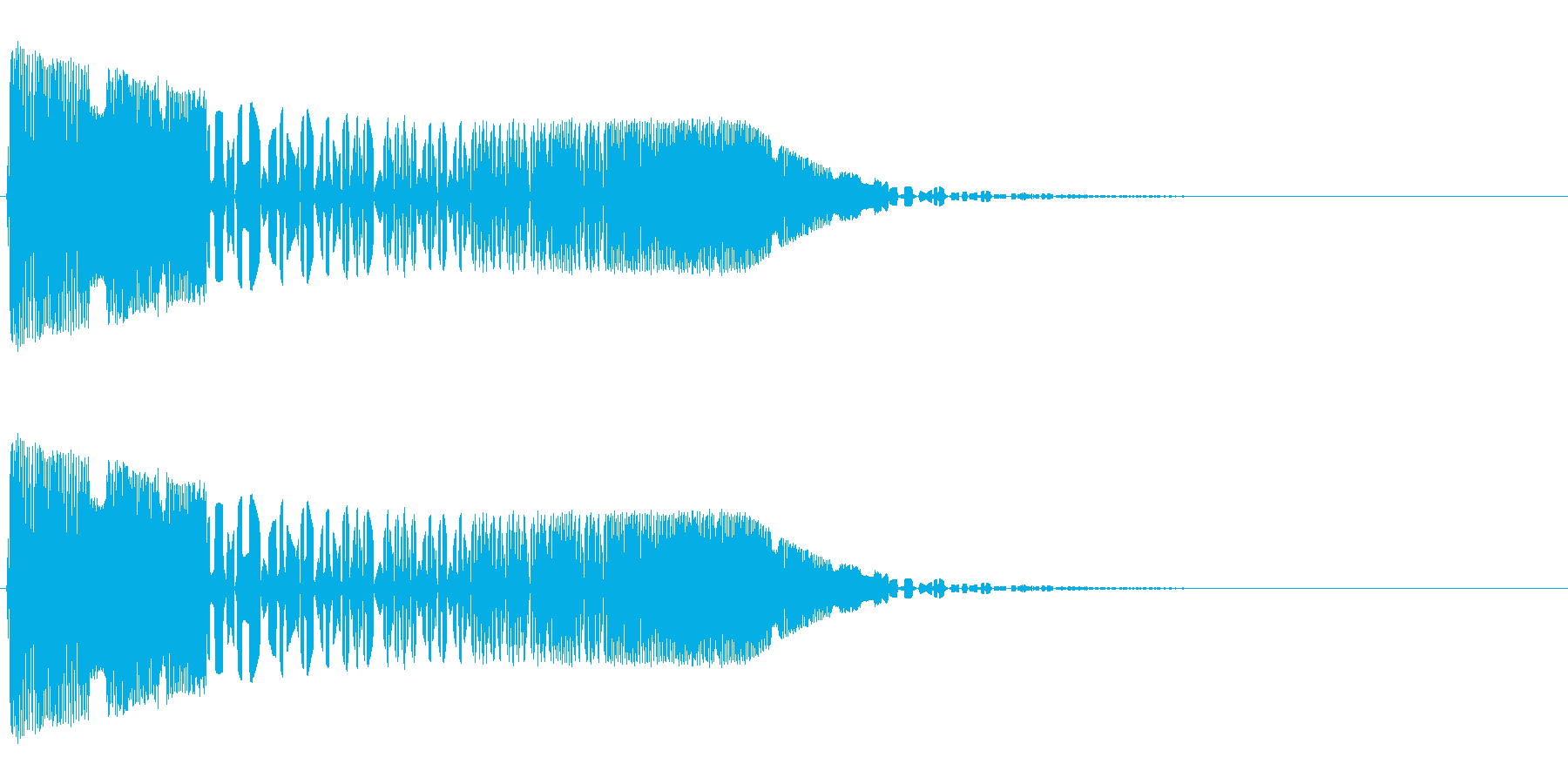 バシャッ02(水・液体系のアクション音)の再生済みの波形