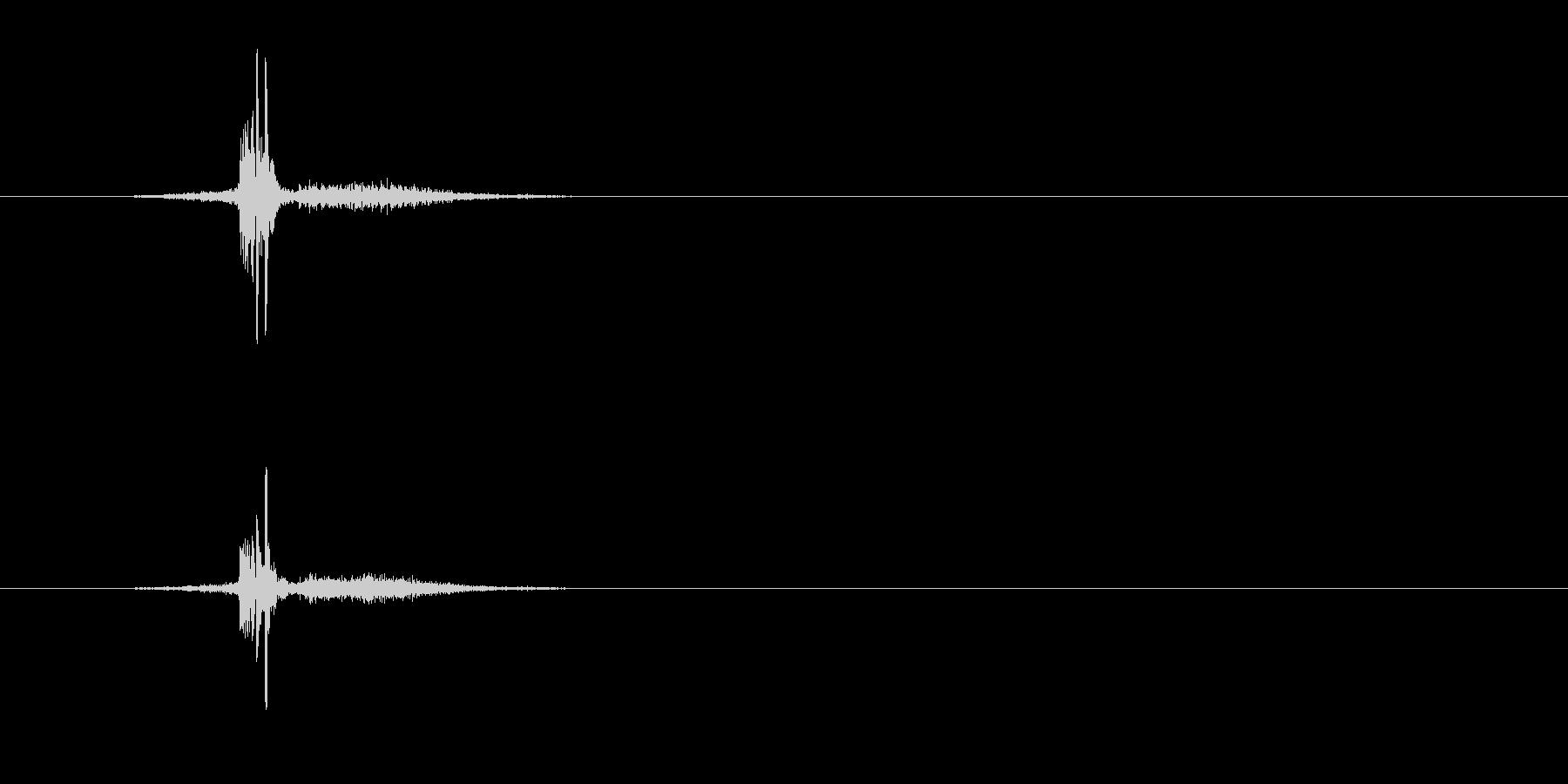 ZIPPO(ジッポ)を閉める音 真鍮無垢の未再生の波形