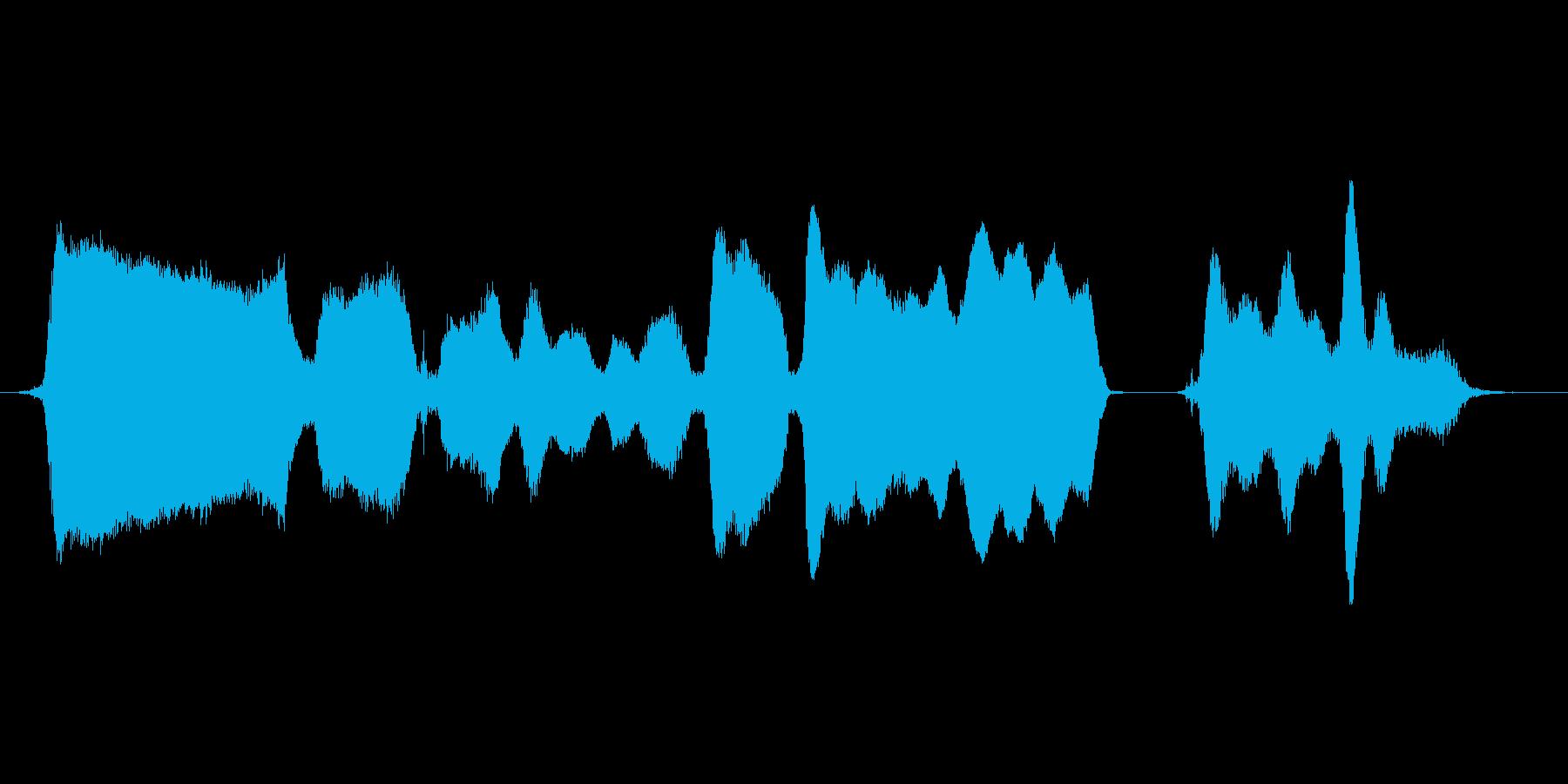 メロディーを口ずさむの再生済みの波形