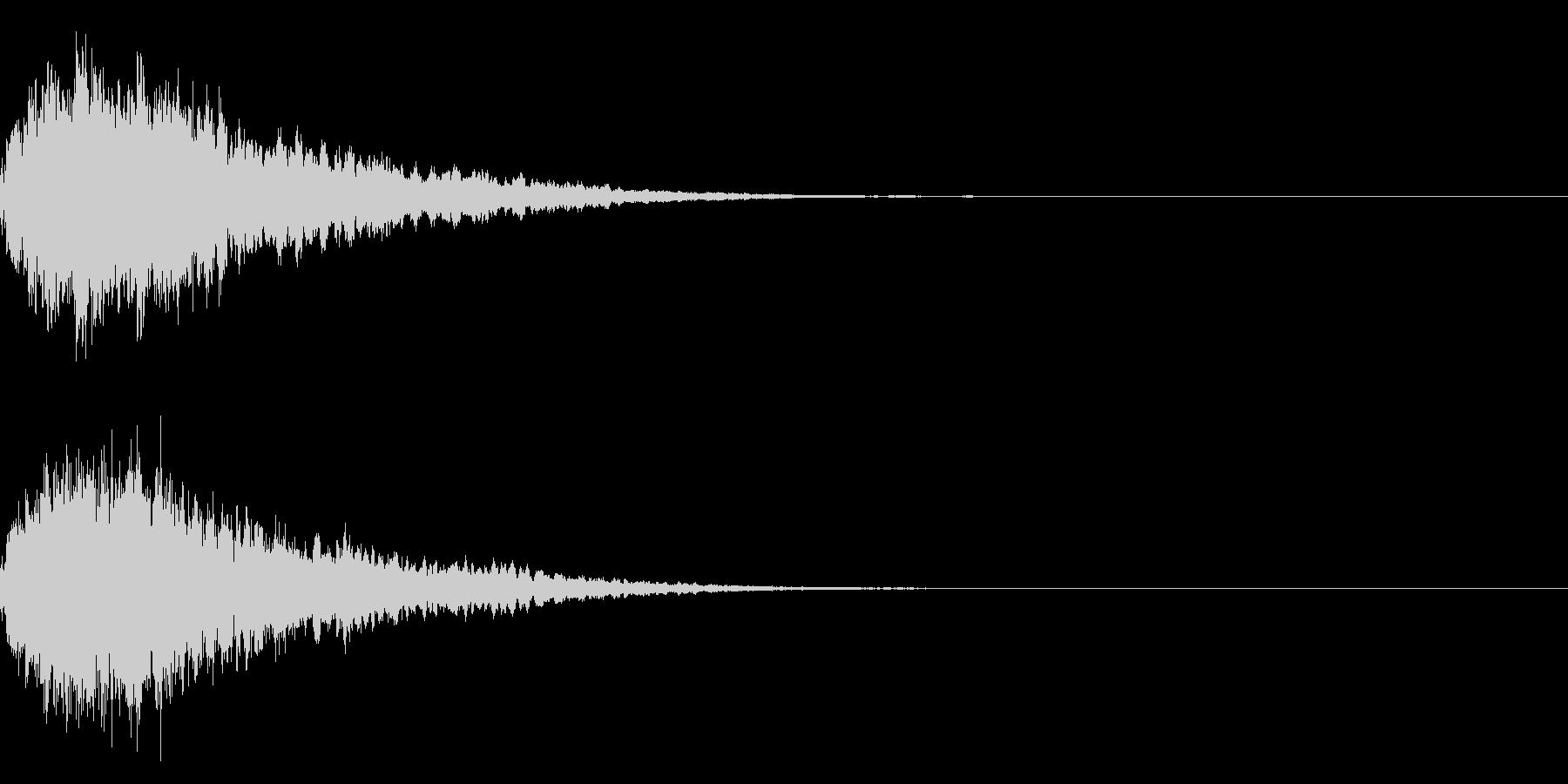キラキラ輝く テロップ音 ボタン音!2bの未再生の波形