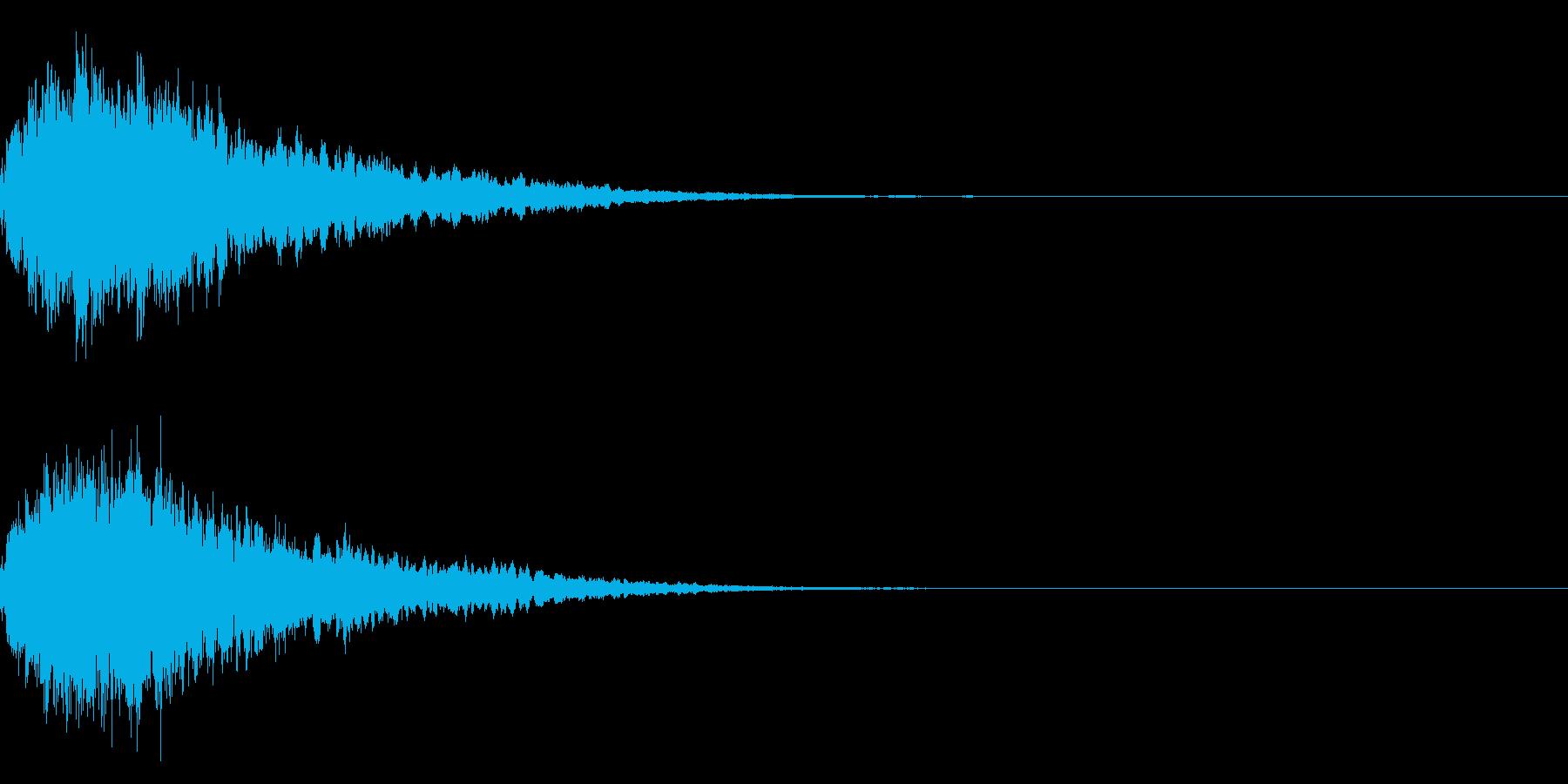 キラキラ輝く テロップ音 ボタン音!2bの再生済みの波形