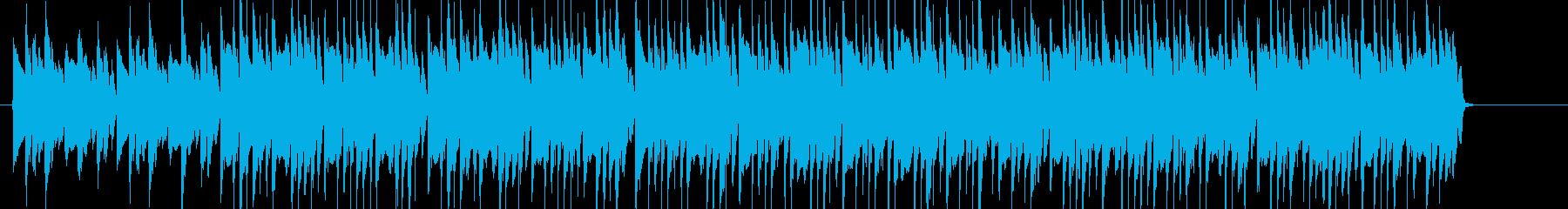 CMに合いそうな軽快な音楽(ボサノバ)の再生済みの波形