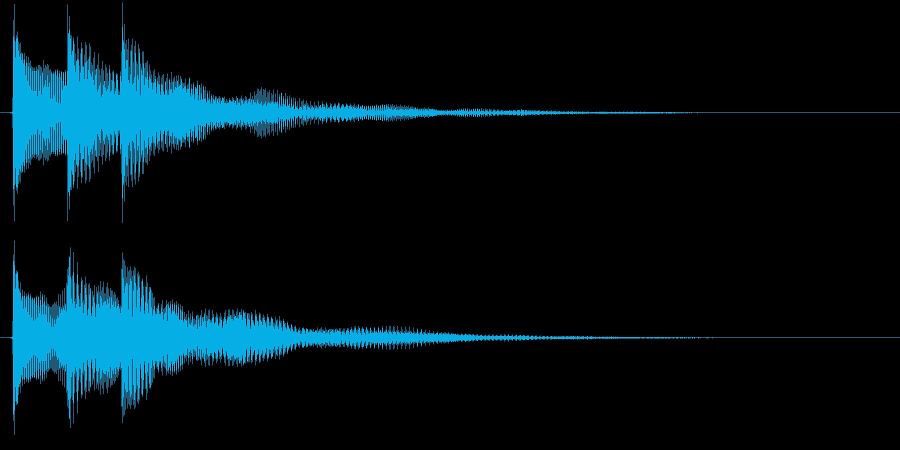 チャラリン(お知らせアラート音ベル)の再生済みの波形