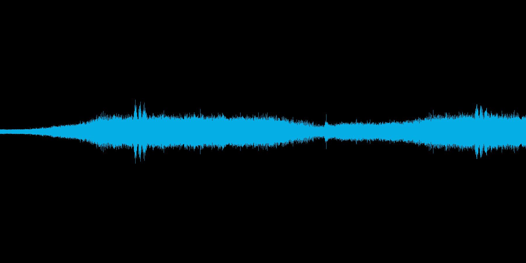 セミの鳴き声です。ところどころカラスも…の再生済みの波形
