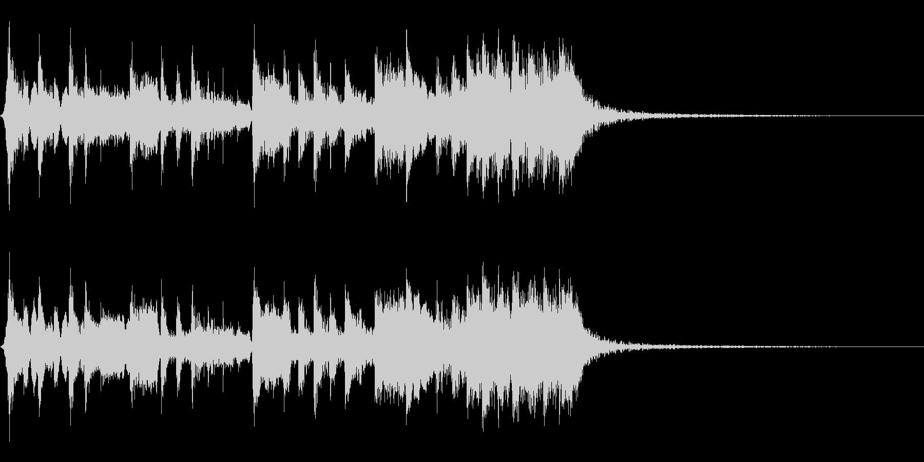 笛と和太鼓・三味線によるお祭り風メロディの未再生の波形