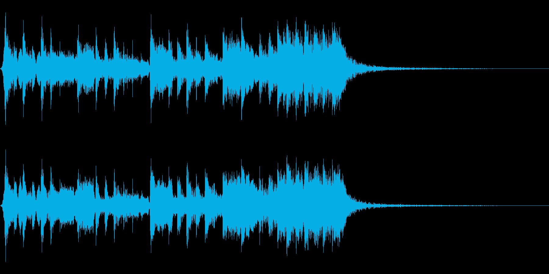 笛と和太鼓・三味線によるお祭り風メロディの再生済みの波形
