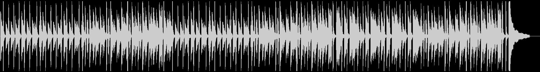 シンプルで軽快な明るいピアノ曲の未再生の波形