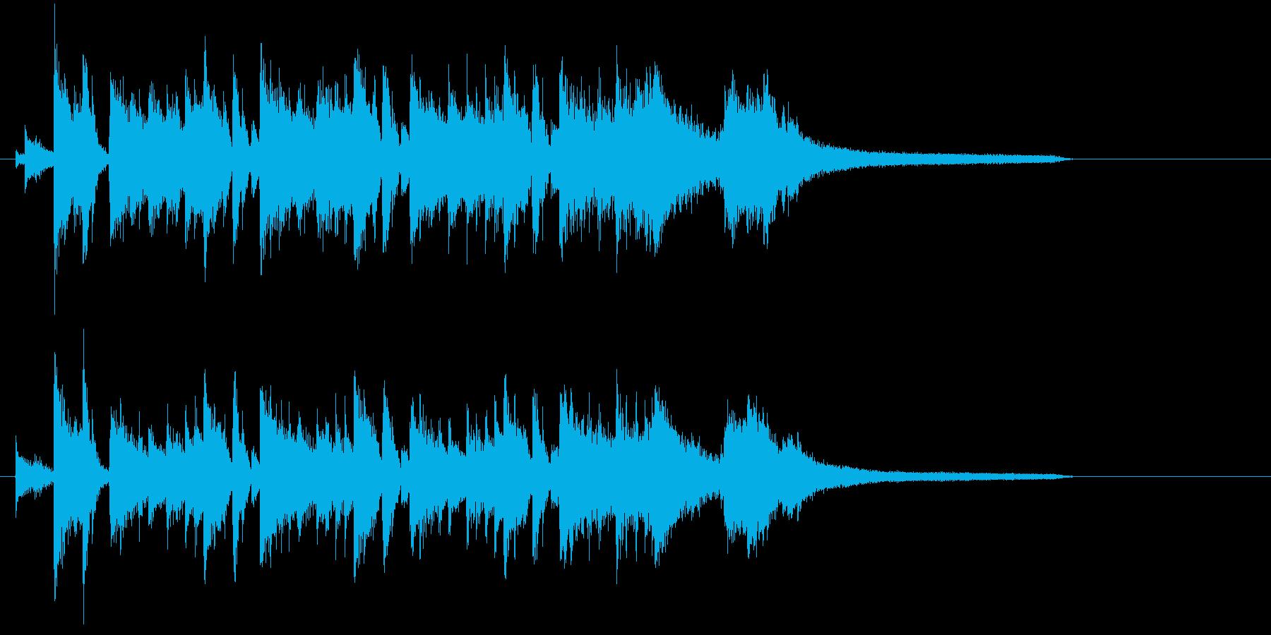 タイトルバック、ジングル、場面転換、ロゴの再生済みの波形