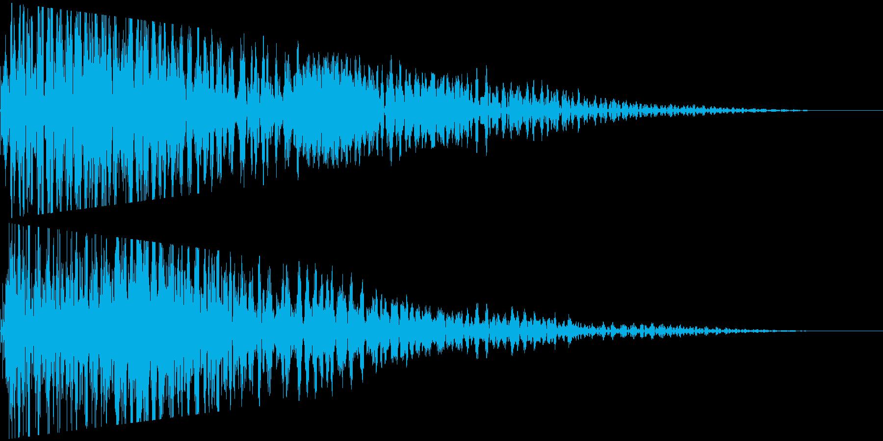 ポワーンとワープして消えるの再生済みの波形