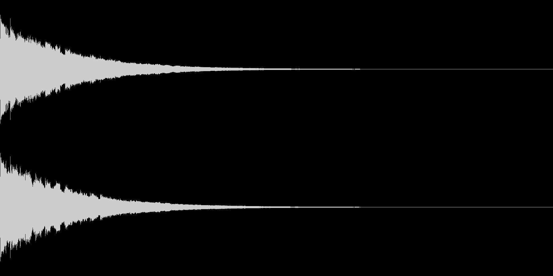 ピコピコピコ… 上昇音 その1の未再生の波形