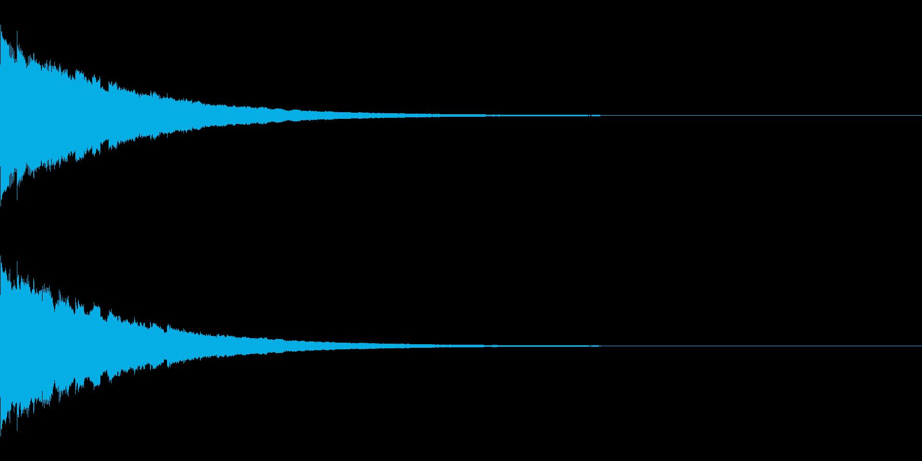 ピコピコピコ… 上昇音 その1の再生済みの波形