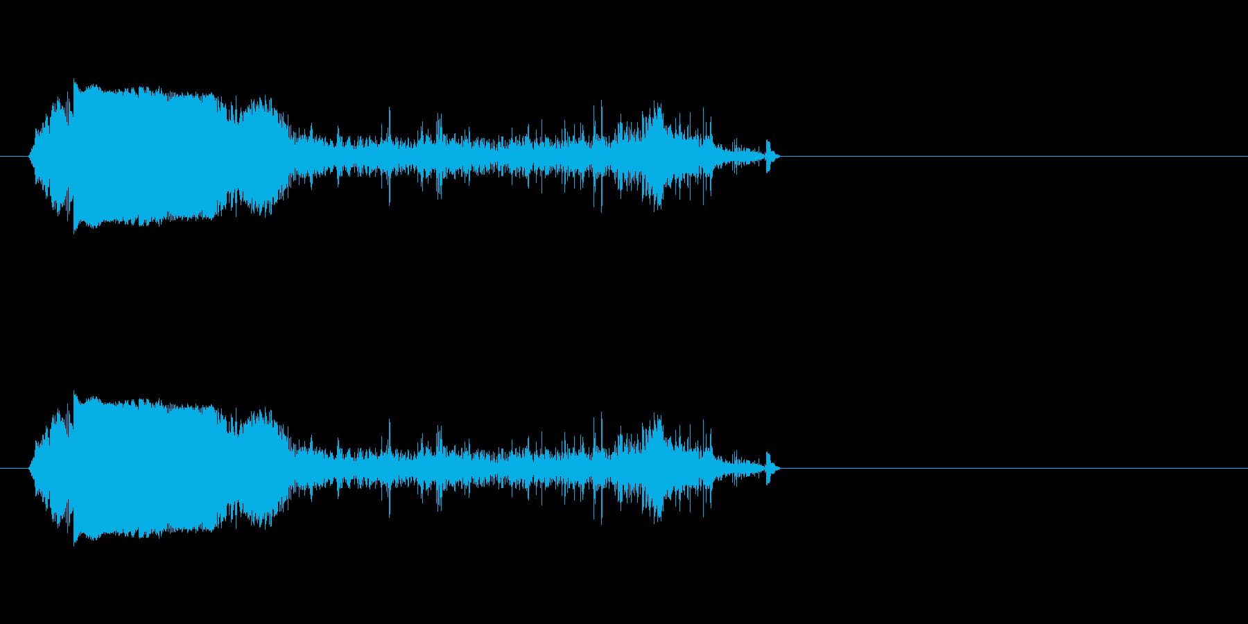 ガチャガチャ(鎖を使って攻撃する音)の再生済みの波形