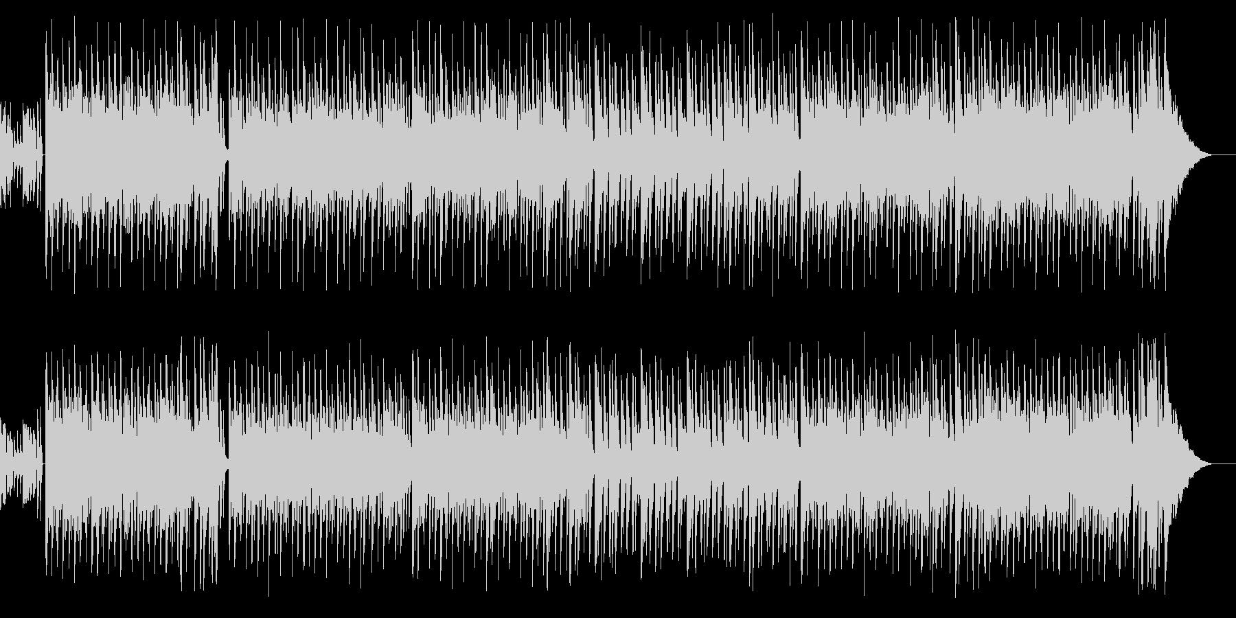 夏っぽいボサノバチックBGMの未再生の波形