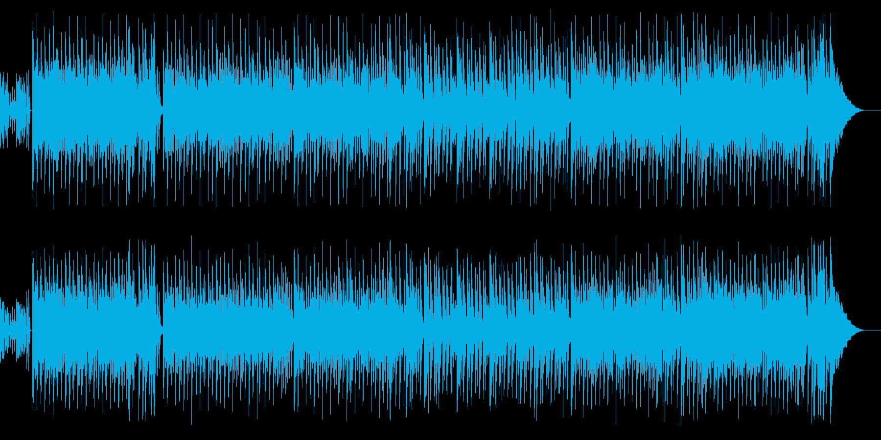 夏っぽいボサノバチックBGMの再生済みの波形
