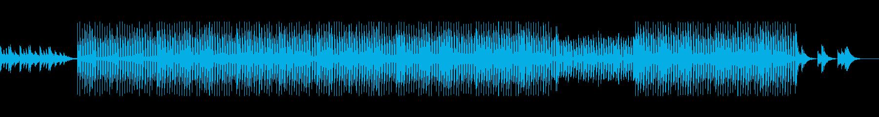 ダークな雰囲気で陰影のあるテクノポップ風の再生済みの波形