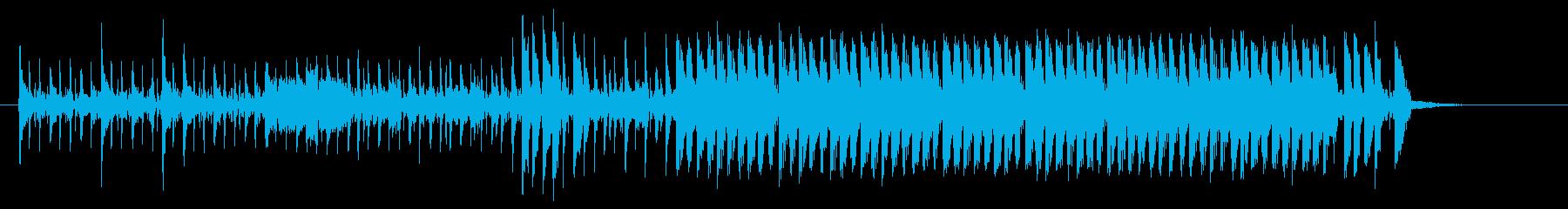 近未来的で不思議なシンセビートジングルの再生済みの波形