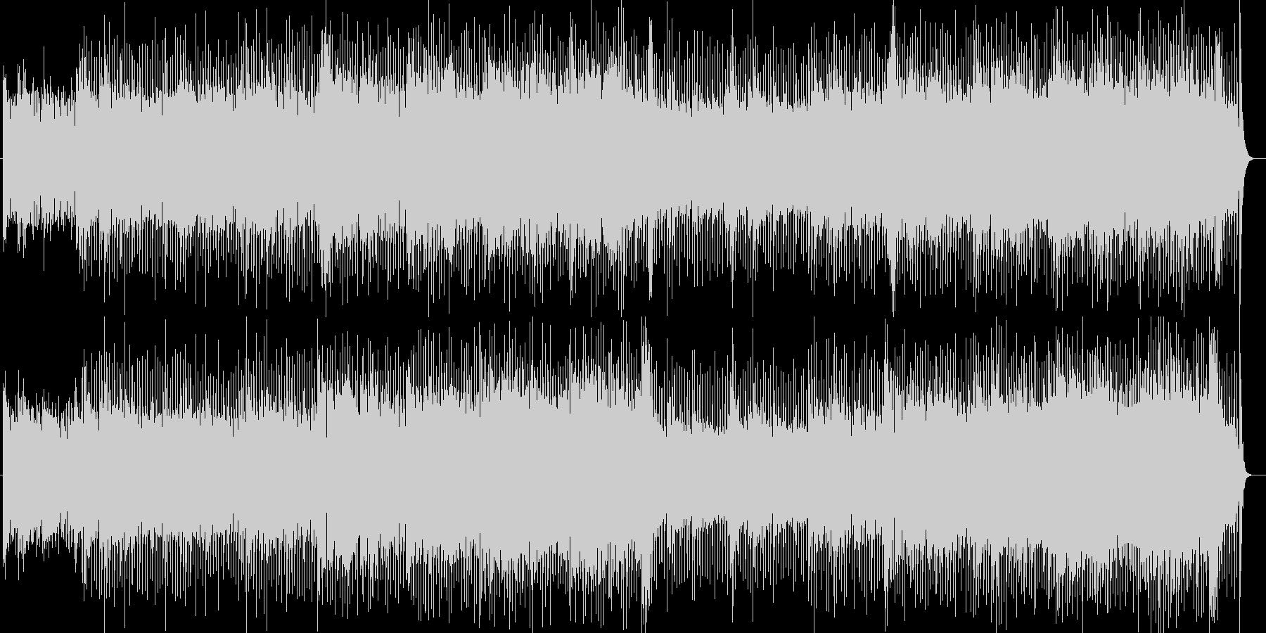 疾走感明るいシンセサイザーポップの未再生の波形