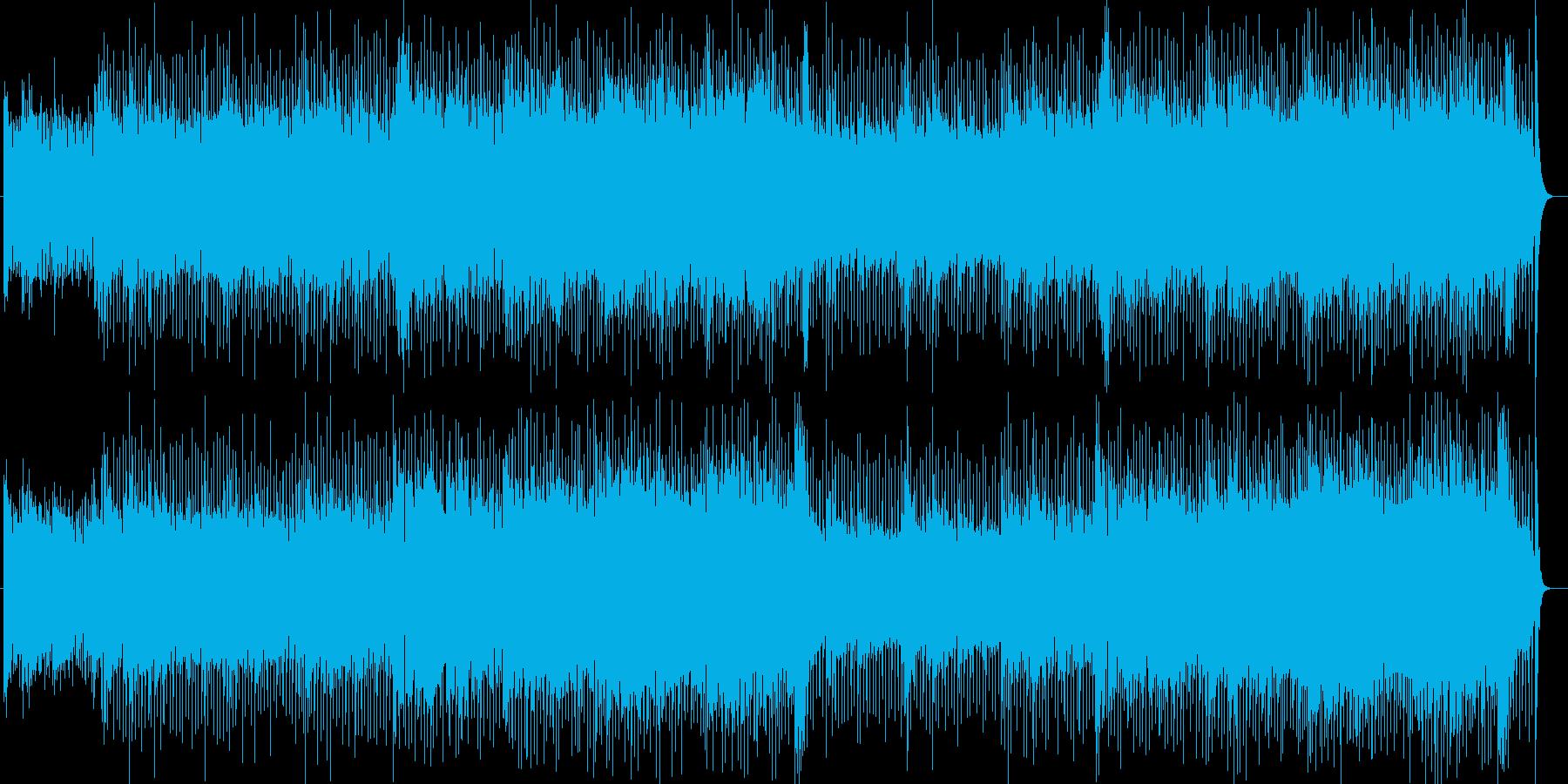 疾走感明るいシンセサイザーポップの再生済みの波形