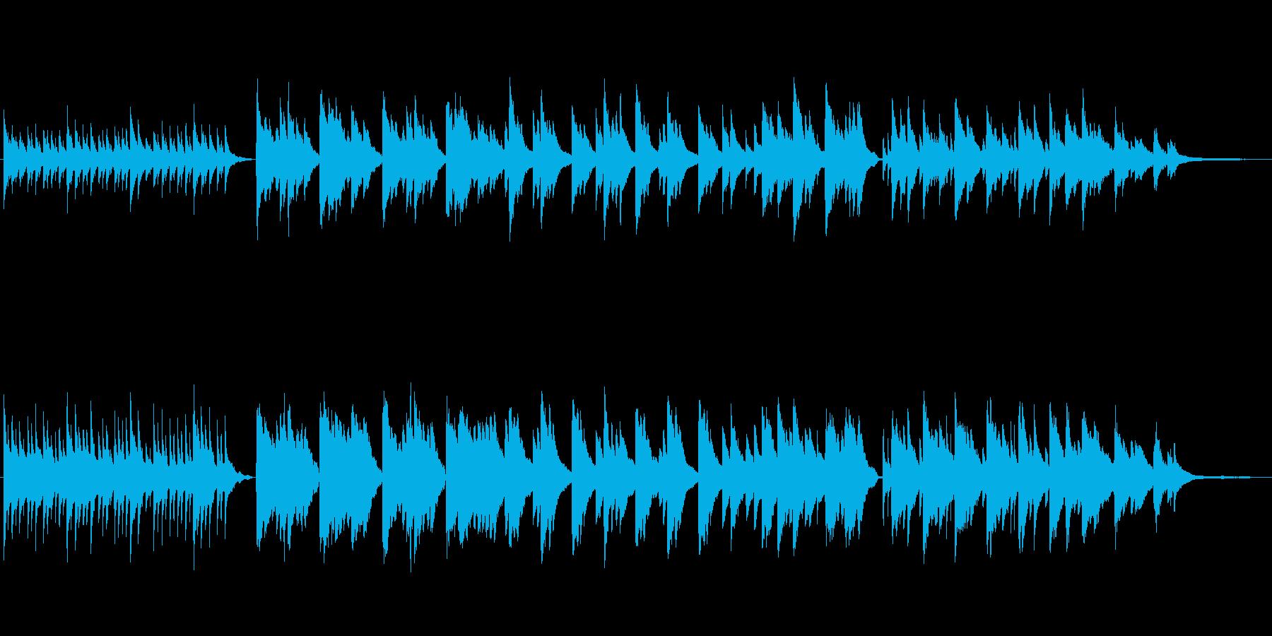 センチメンタルなピアノソロ曲の再生済みの波形
