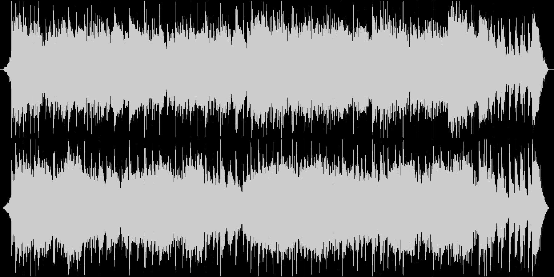 琴の旋律が美しい和とテクノのミックスの未再生の波形