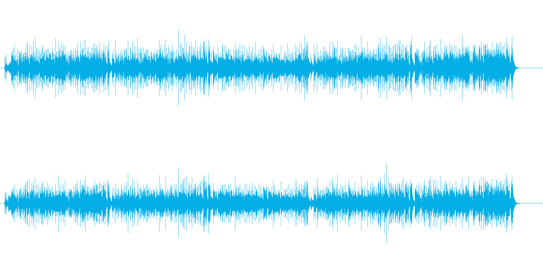 テーマ・ソング風マイナー・ポップスの再生済みの波形