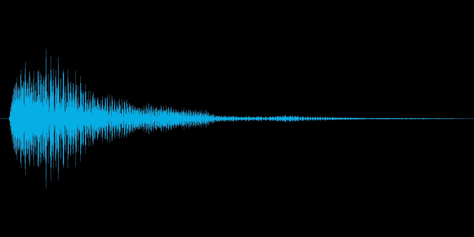 キャンセル.タップ.クリック.決定04の再生済みの波形