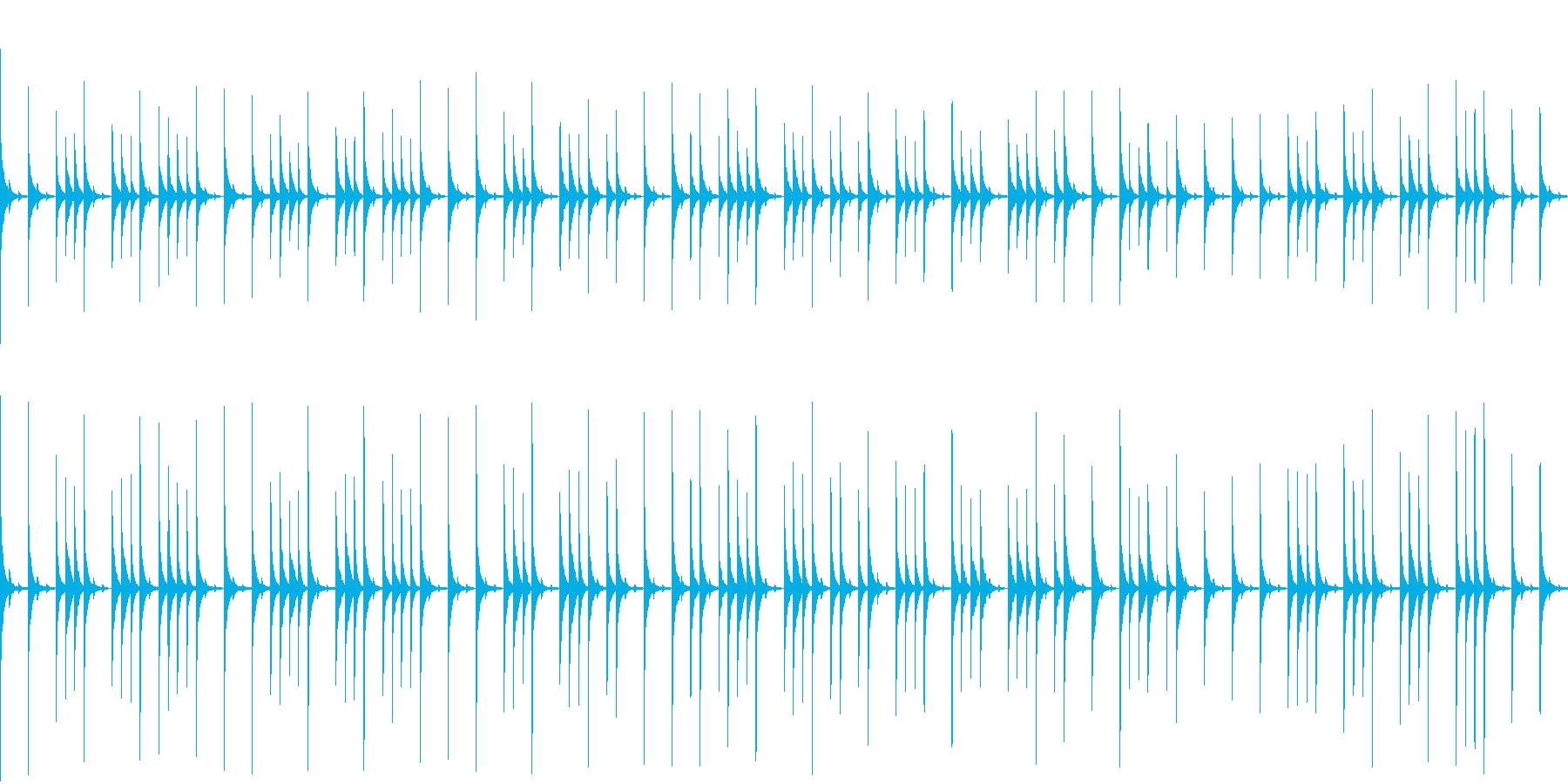 グロッケンの音色のゆっくりした曲ですの再生済みの波形