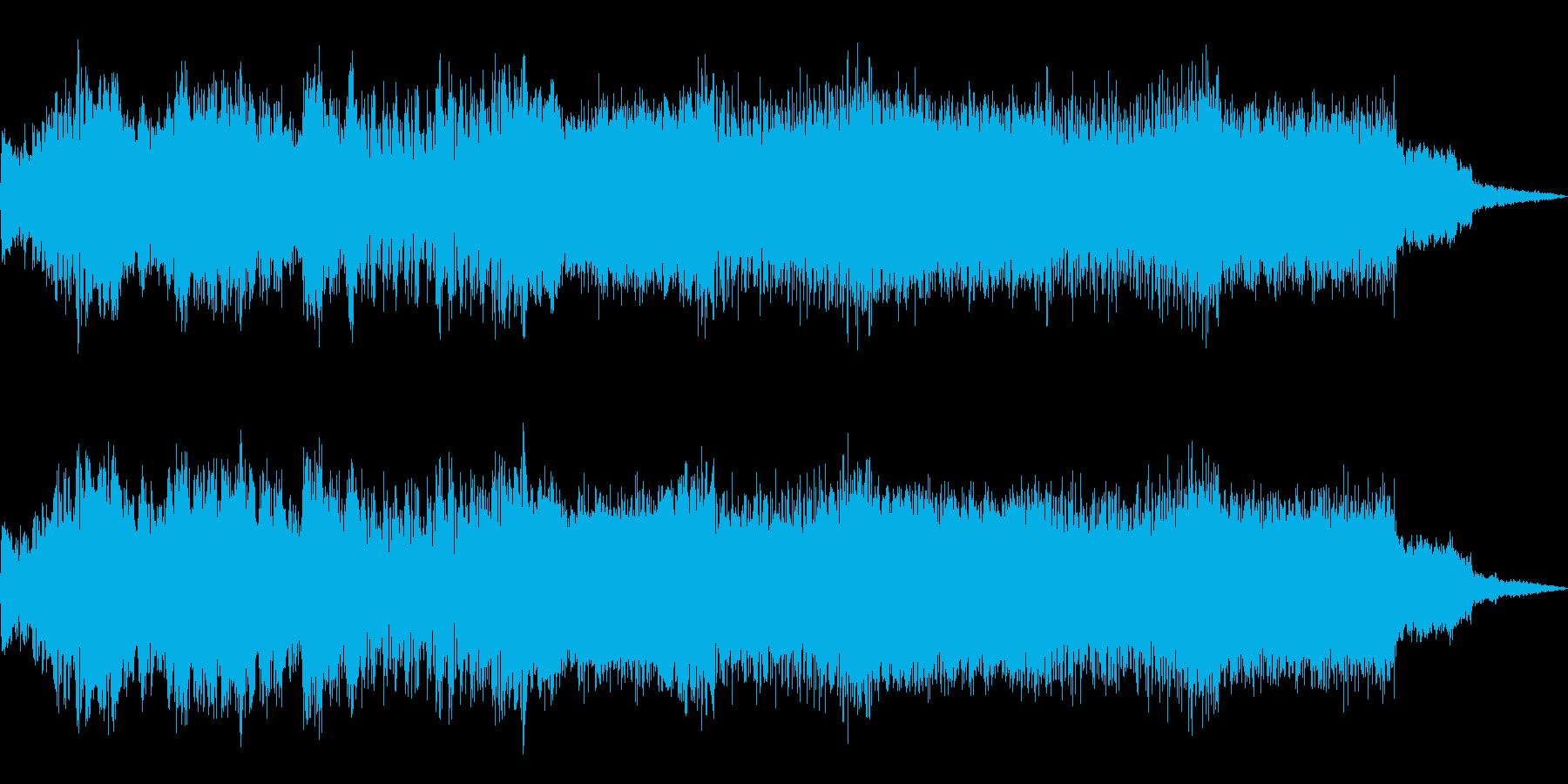 デジタルな雰囲気のグリッチ―なIDMの再生済みの波形