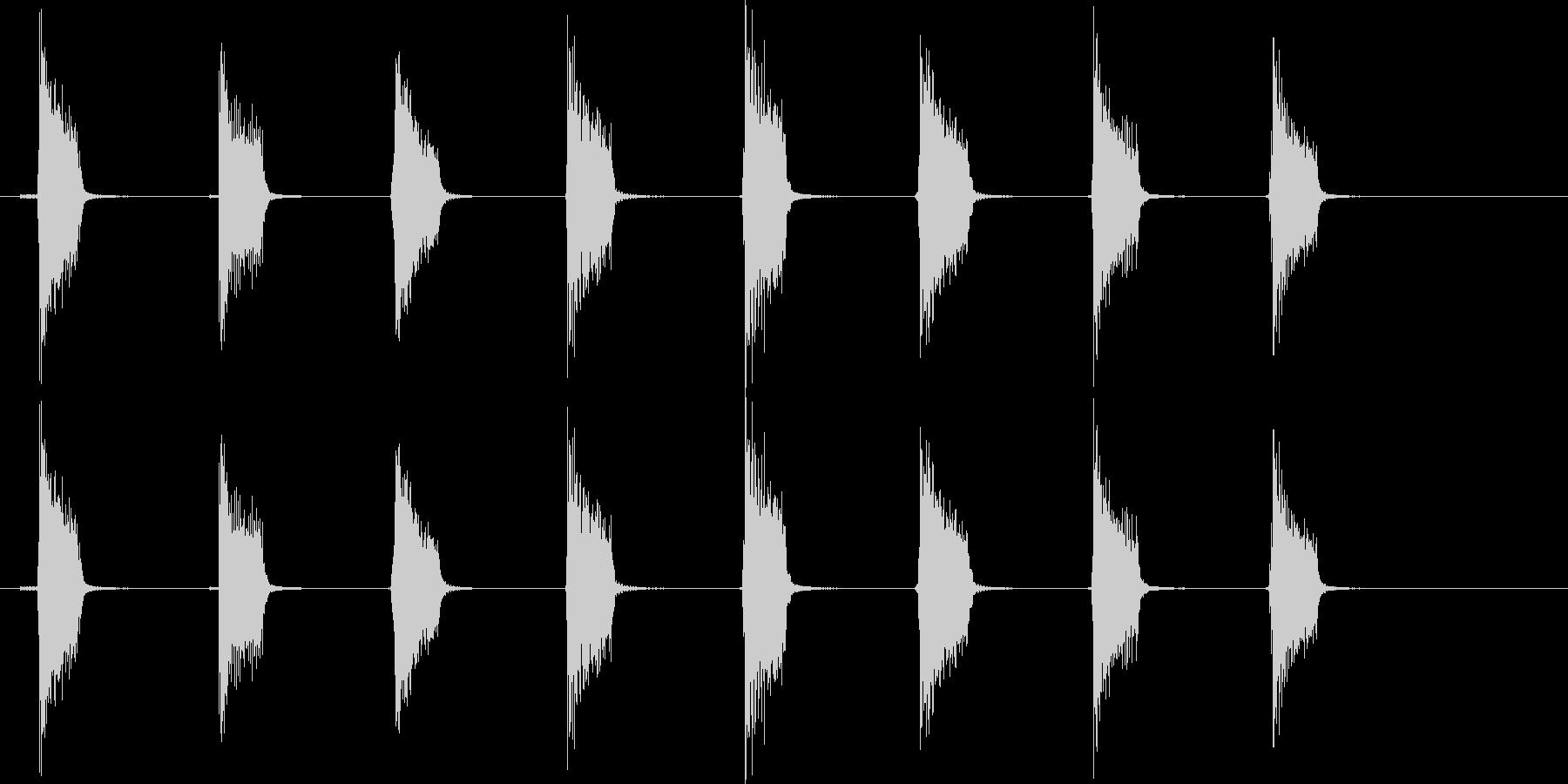 ギターフレーズ017の未再生の波形