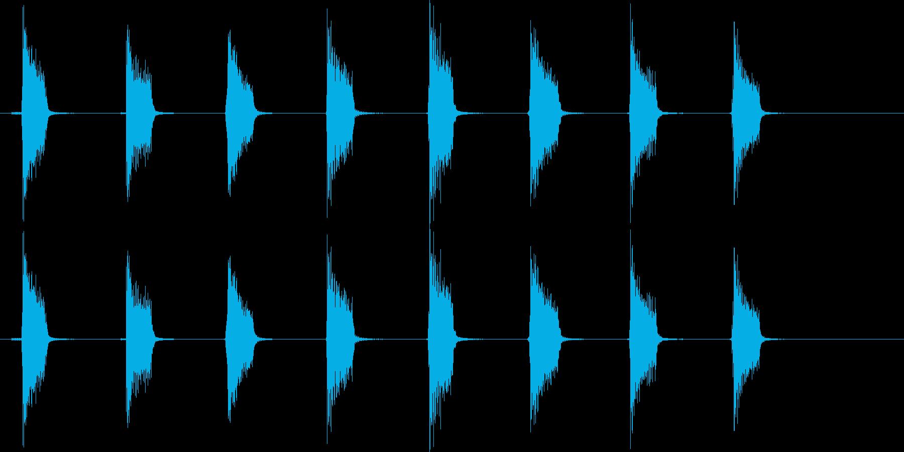 ギターフレーズ017の再生済みの波形