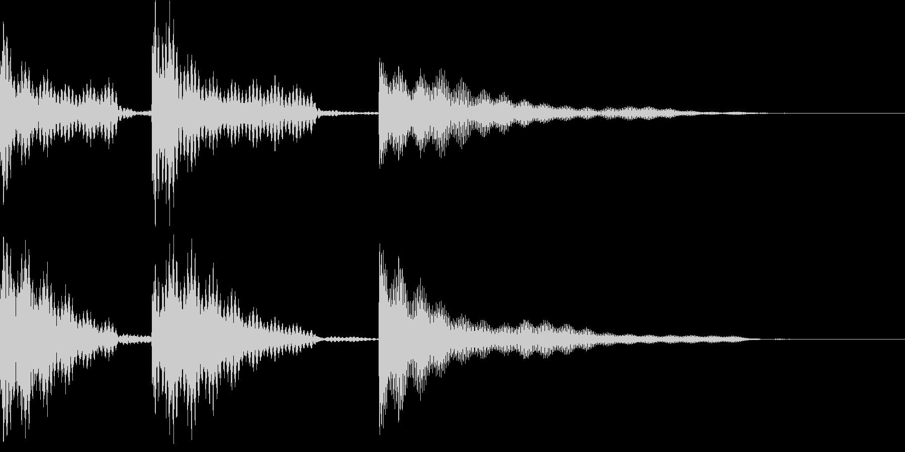 いろいろな用途に使えるジングルです。の未再生の波形