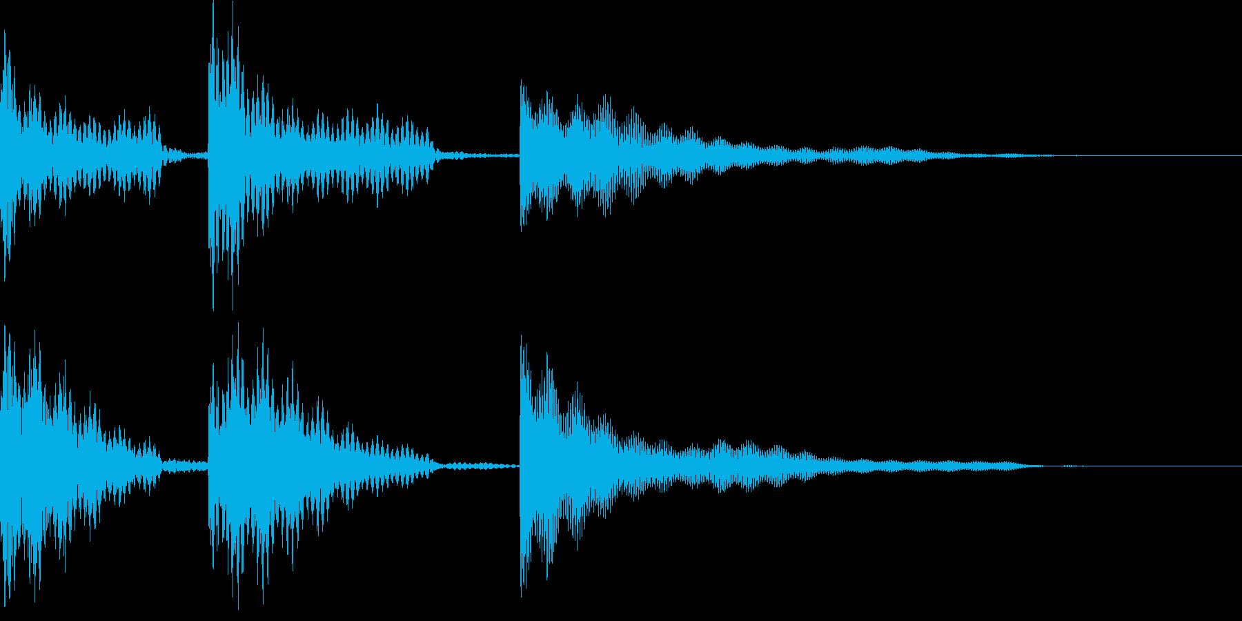 いろいろな用途に使えるジングルです。の再生済みの波形