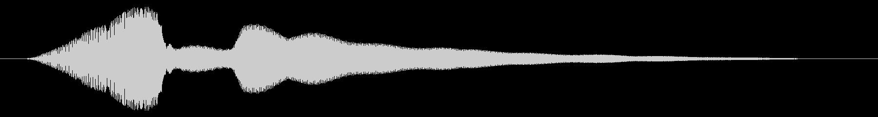 決定/ロック解除/成功の未再生の波形