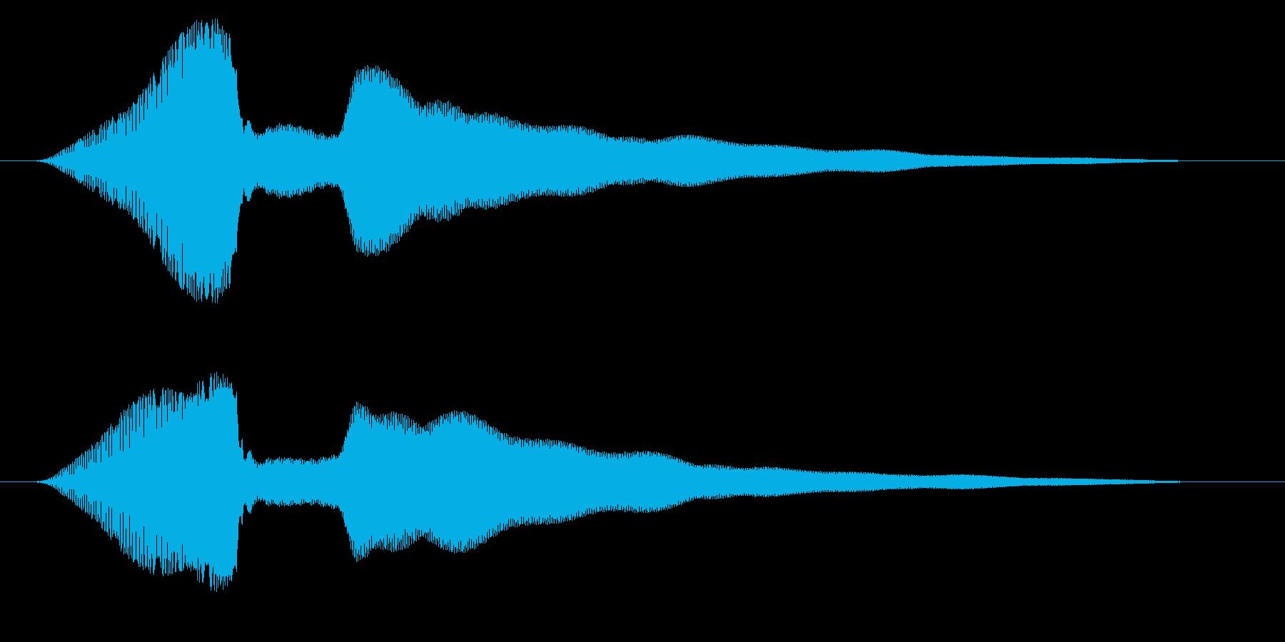 決定/ロック解除/成功の再生済みの波形