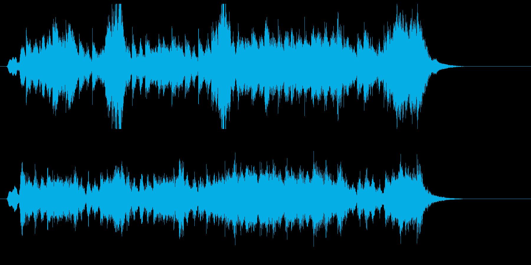 コミカルでキャッチ―なポップジングルの再生済みの波形