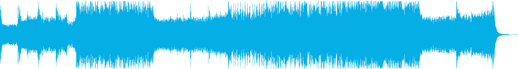 スピード感溢れるポップスの再生済みの波形