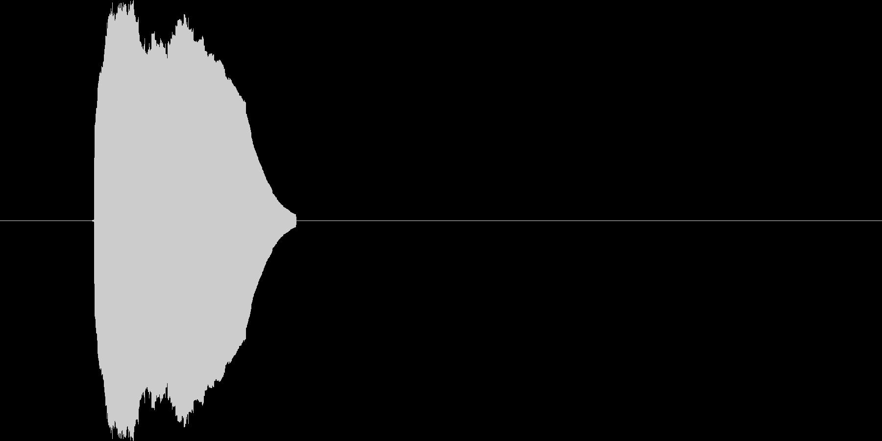 ピッ【ボタンを押す】 シンプルな電子音の未再生の波形