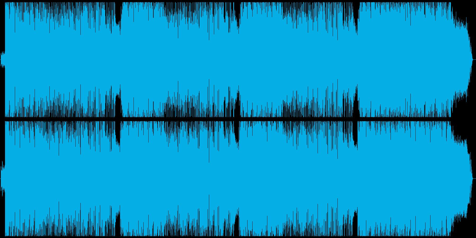 ヘヴィなロックの再生済みの波形