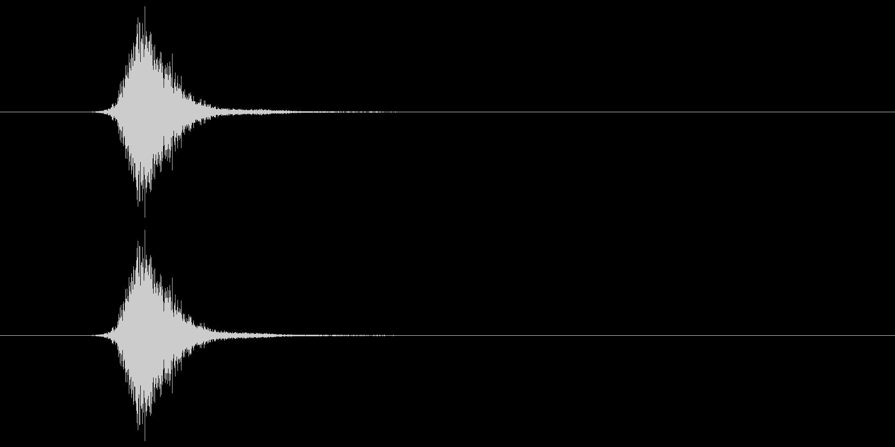 シャッ(投擲音)の未再生の波形