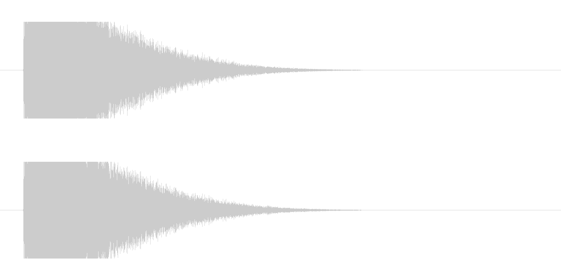 魔法発動の未再生の波形