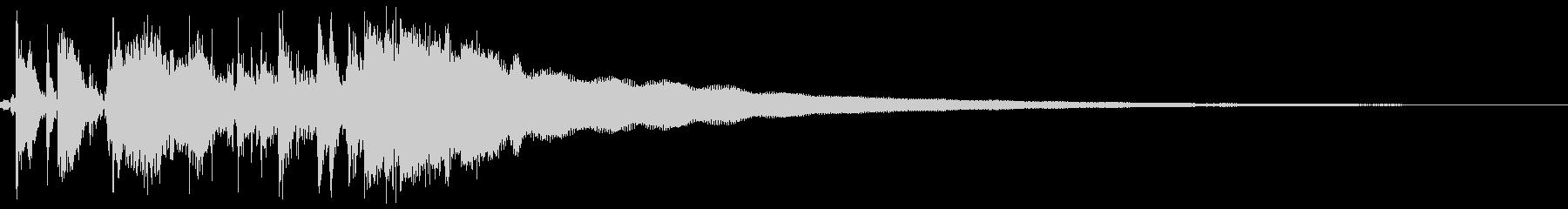 古いレジスターの清算音(ハンドルを回す)の未再生の波形