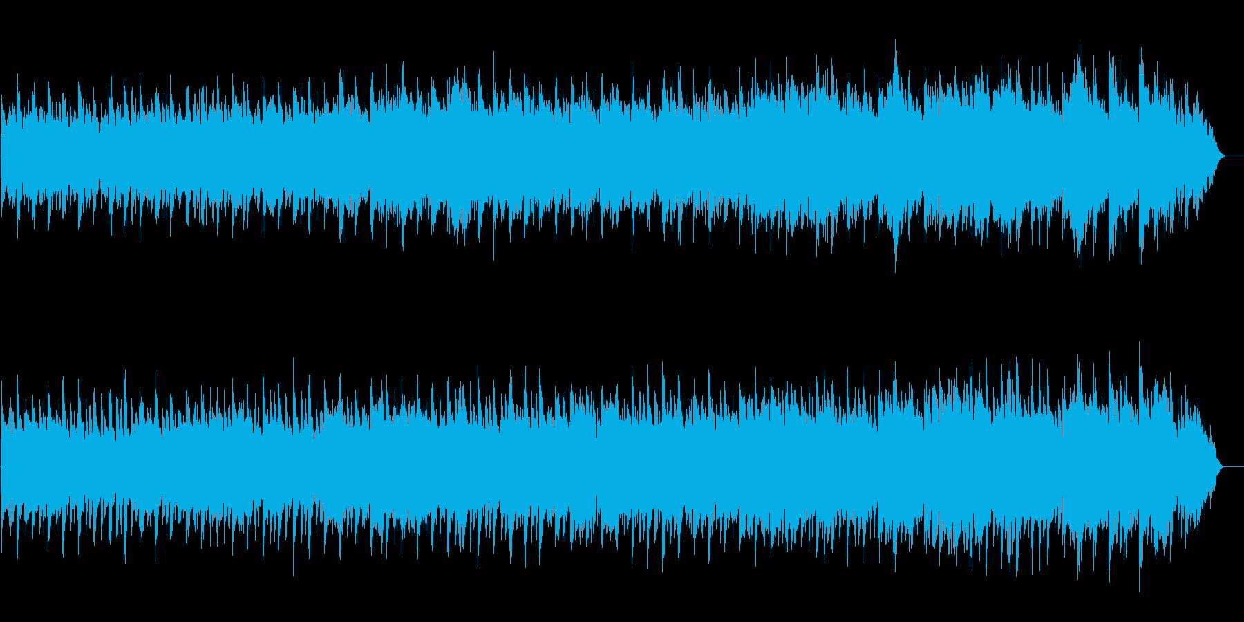 リラクセイション系 睡眠誘発サウンドの再生済みの波形