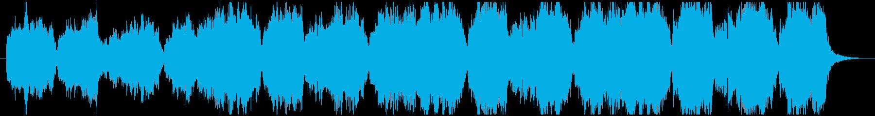 ストリングスメインの温かな雰囲気のBGMの再生済みの波形