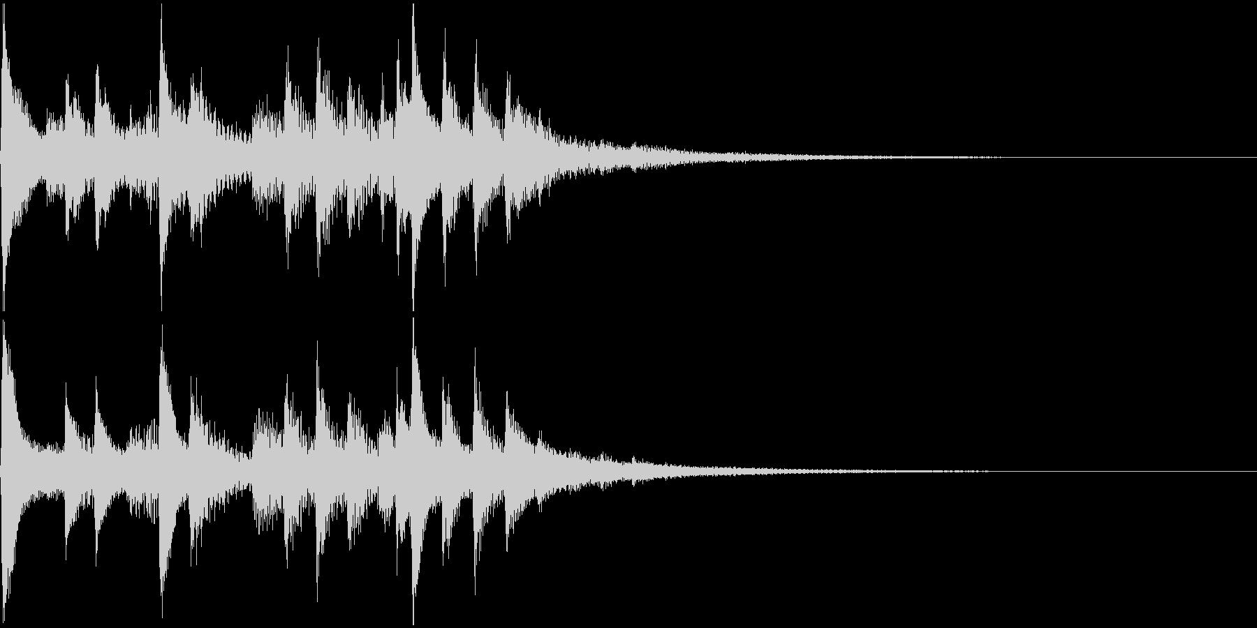 琴の和風ジングル3の未再生の波形