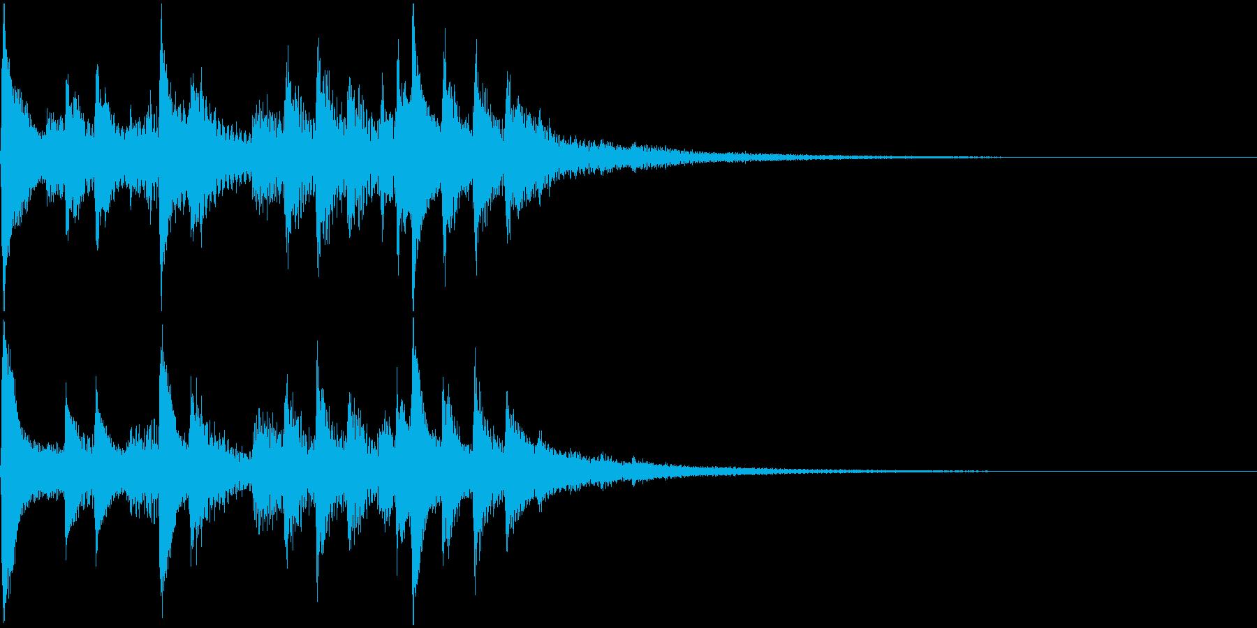 琴の和風ジングル3の再生済みの波形