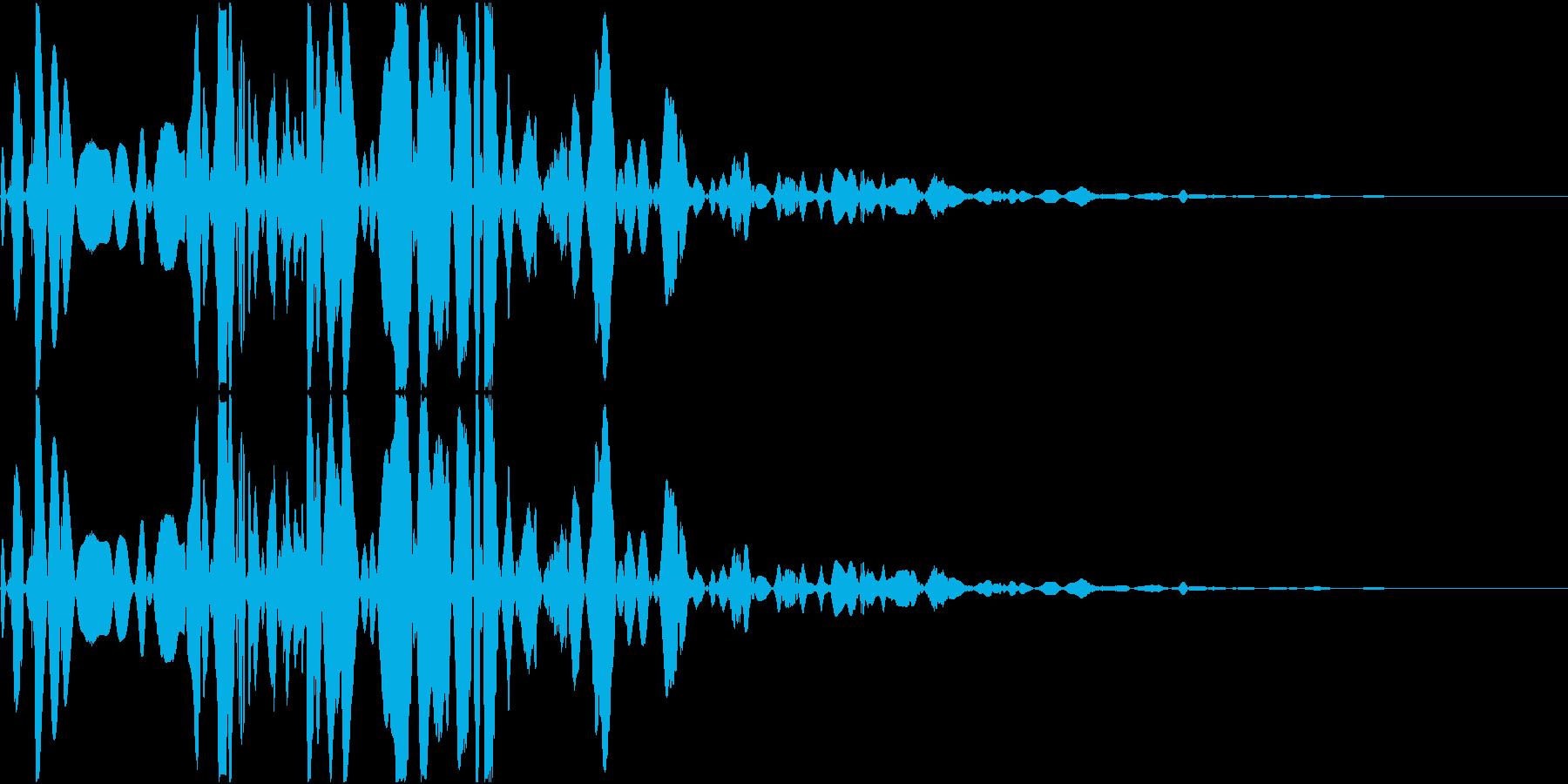 ベチャッ05(泥・液体系のアクション音)の再生済みの波形