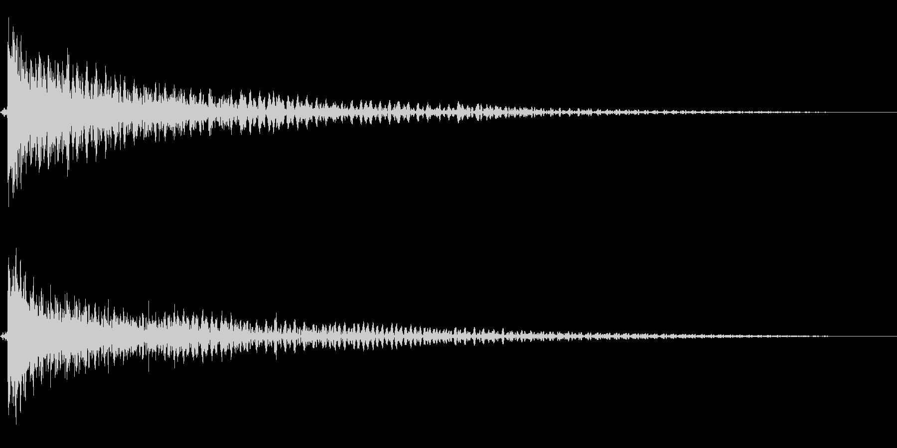 ホラー系アタック音105の未再生の波形